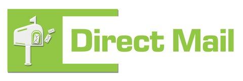 Direct mail Groene Abstracte Bar stock illustratie