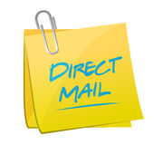 Direct mail memo post illustration. Design over a white background Stock Image