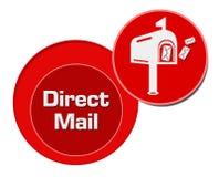 Direct mail Rode Cirkels vector illustratie