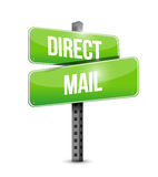 Direct mail sign illustration design Royalty Free Stock Image