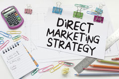 Direct Marketing. Business concept with text in office Royalty Free Stock Images