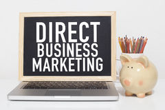 Direct Marketing. Business concept with text in office Royalty Free Stock Photos