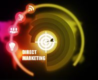 Direct Marketing concept plan graphic. Background Royalty Free Stock Image