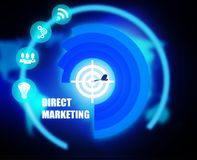 Direct Marketing concept plan graphic. Background Stock Images