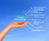 Direct marketing. Presenting diagram of Direct marketing Stock Photos