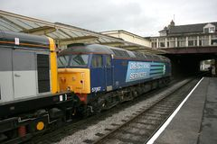 Direct Rail Services Class 57 57007 at the Keighley and Worth Va. Lley Railway, West Yorkshire, UK - June 2008 Stock Images