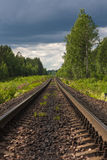 Direct railway Stock Photography