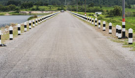 Direct road. This road was built on the dam royalty free stock images