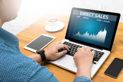 DIRECT SALES  Business, Technology, Internet and network concept Stock Photography