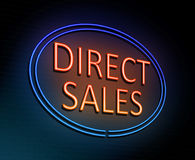 Direct sales concept. Royalty Free Stock Images