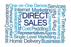 Direct Sales Word Cloud stock photo