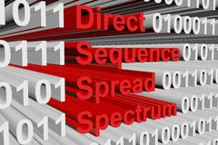 Direct sequence spread spectrum Royalty Free Stock Images