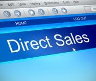 Direct verkoopconcept Stock Afbeelding