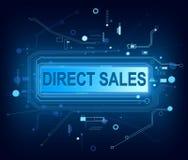Direct verkoopconcept Stock Foto