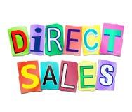 Direct verkoopconcept Stock Foto's