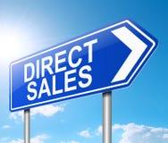 Direct verkoopconcept Royalty-vrije Stock Foto's