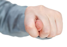 Direct view of fig sign - hand gesture Stock Photos
