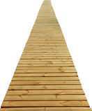 Direct Wood Path Isolated Royalty Free Stock Photo