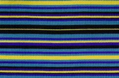 Directamente línea textura de las lanas que hace punto Foto de archivo libre de regalías