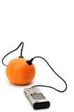 Directe oranje aansluting Royalty-vrije Stock Foto's