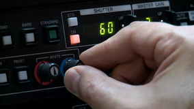 Directe TV-uitzending, cameracontrole, telecruiser stock footage