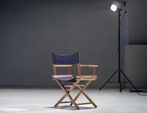 Directer chair. Empty directer chair in studio stock photography