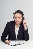 Directeur au centre d'appels images stock