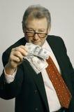 Directeur avec l'argent comptant Photos stock