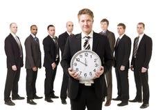 Directeur avec une horloge Image stock