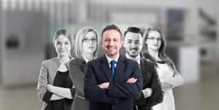 Directeur commercial et personnes de société Image stock