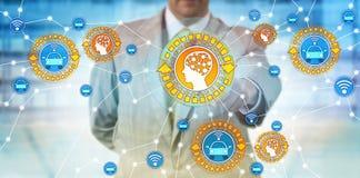 Directeur Connecting Autonomous Car et AI d'industrie photo stock
