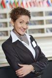 Directeur d'hôtel à la réception Image stock