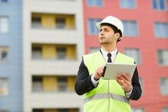 Directeur de construction sur le site image libre de droits