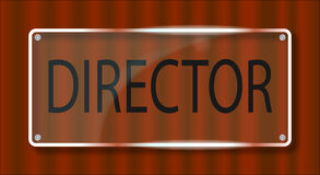 Directeur Door Plaque Photos stock