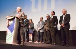 Directeur et acteurs de ` de Christs du ` trois au festival de film international de Toronto photo libre de droits