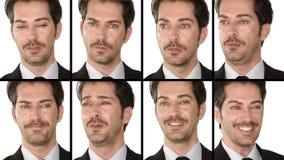 Directeur : expressions du visage banque de vidéos