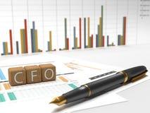 Directeur Financier - CFO Photo stock
