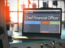 Directeur Financier Job Vacancy 3d photos stock