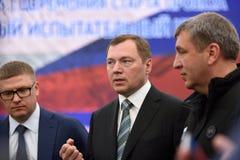 Directeur général des grilles russes Oleg Budargin de JSC Photos libres de droits