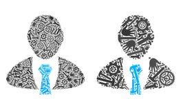 Directeur Icons de collage des outils de réparation illustration libre de droits