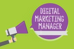 Directeur marketing de Digital des textes d'écriture de Word Concept d'affaires pour optimisé pour signaler dans les conseils ou  Illustration Libre de Droits