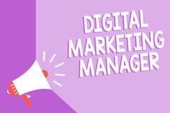 Directeur marketing de Digital des textes d'écriture de Word Concept d'affaires pour optimisé pour signaler dans les conseils ou  illustration stock