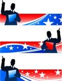 Directeur met patriottische banners Royalty-vrije Stock Foto's