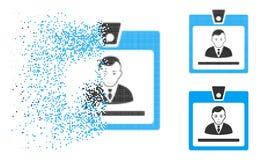 Directeur tramé Badge Icon de pixel cassé avec le visage illustration libre de droits