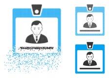 Directeur tramé pointillé de désintégration Badge Icon avec le visage illustration libre de droits