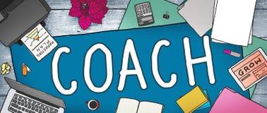 Directeur Tutor Concept du Chef de Coaching Guide Instructor d'entraîneur Photo libre de droits