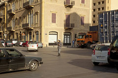 Directing traffic, Beirut Stock Photography