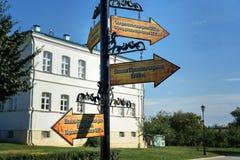 Direction à différents endroits dans Kremlin l'astrakan Photo stock