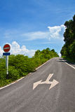 Direction. No enter in this way royalty free stock images