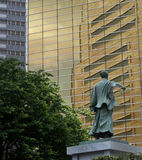 Direction. Statue of the men in Tokyo Stock Photography